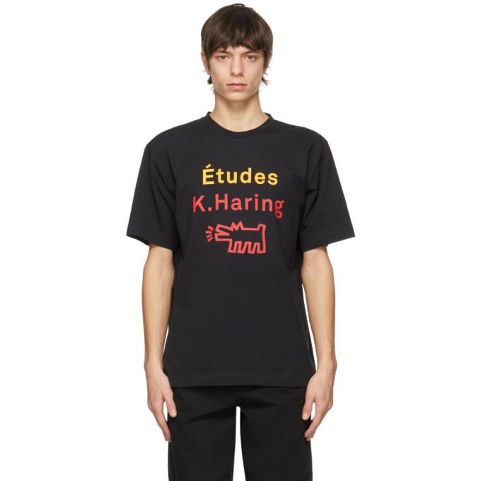 Etudes Studio ETUDES BLACK KEITH HARING EDITION WONDER BARKING DOG T-SHIRT