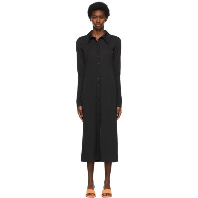 Low Classic Midi dresses LOW CLASSIC BLACK JERSEY SHIRT DRESS