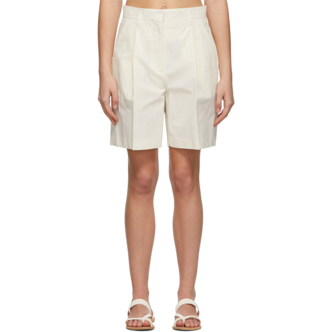 Low Classic LOW CLASSIC OFF-WHITE COTTON HALF PANT SHORTS