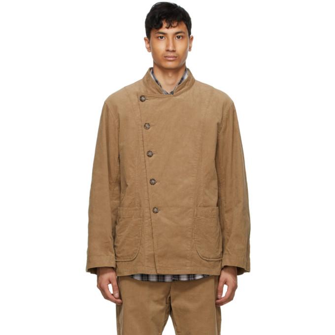 Aïe Khaki Corduroy Double Breasted Jacket In Rk012 Khaki