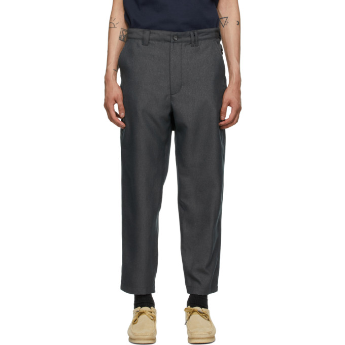 Aïe Grey Twill Bng Trousers In Pt023 Grey