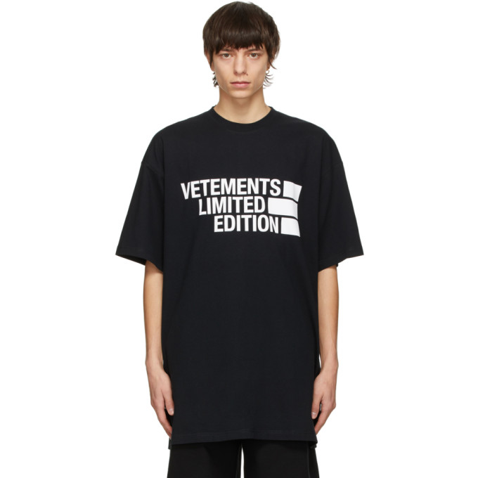 Vetements VETEMENTS BLACK BIG LOGO LIMITED EDITION T-SHIRT