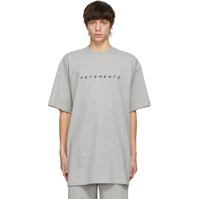 Vetements VETEMENTS GREY FRIENDLY LOGO T-SHIRT