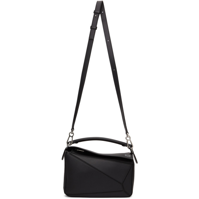 Loewe Women's Small Puzzle Leather Bag In Black