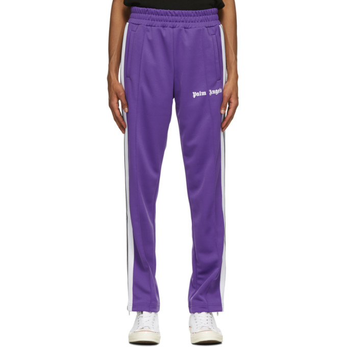 Palm Angels PALM ANGELS PURPLE CLASSIC SLIM TRACK PANTS