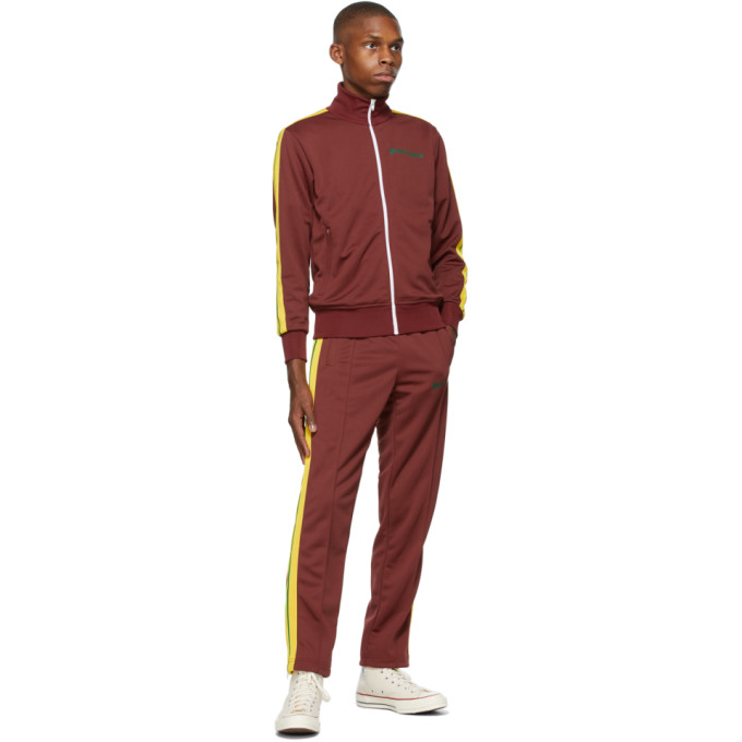 PALM ANGELS Track pants PALM ANGELS BURGUNDY COLLEGE SLIM TRACK PANTS
