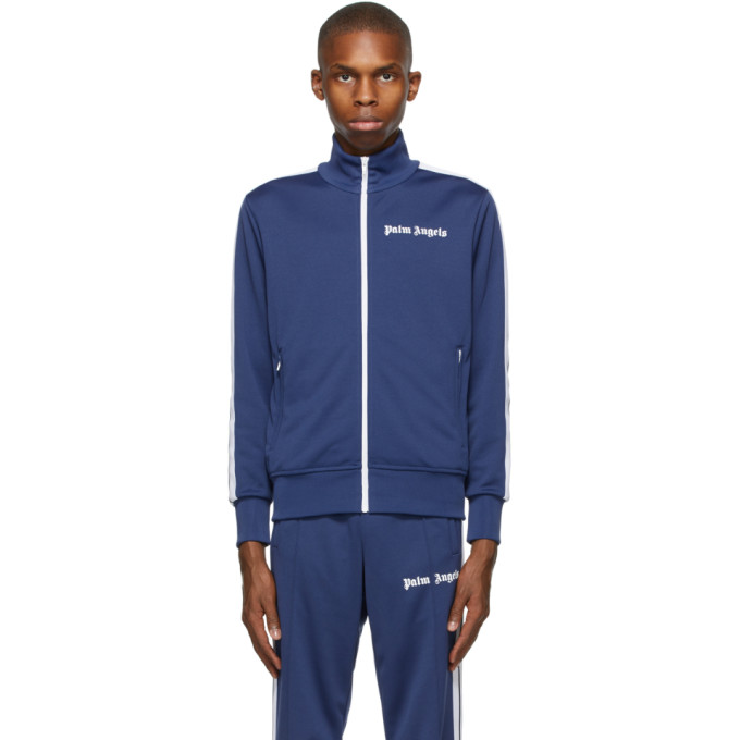 Palm Angels Jackets PALM ANGELS NAVY CLASSIC TRACK JACKET