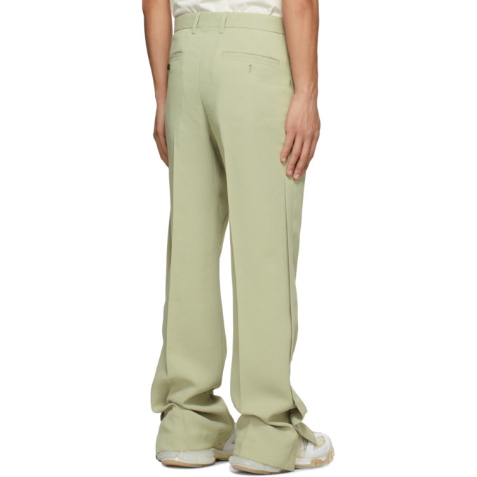 WOOYOUNGMI Pants WOOYOUNGMI GREEN TWILL TROUSERS