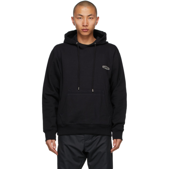 Wooyoungmi Clothing WOOYOUNGMI BLACK EMBROIDERED LOGO HOODIE