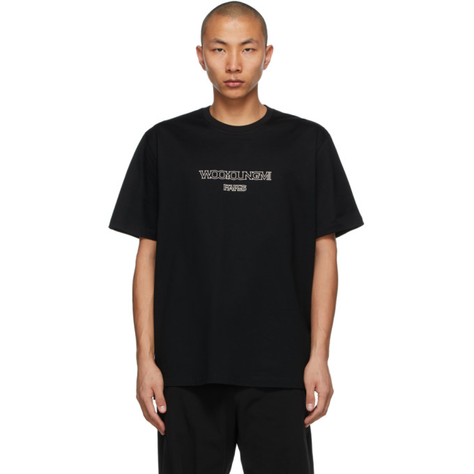 Wooyoungmi WOOYOUNGMI BLACK OUTLINE LOGO T-SHIRT