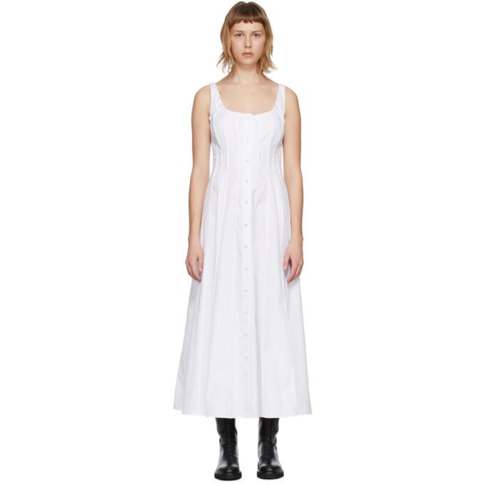 Brock Collection White Sara Poplin Tank Dress