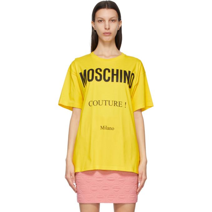 Moschino MOSCHINO YELLOW COUTURE T-SHIRT