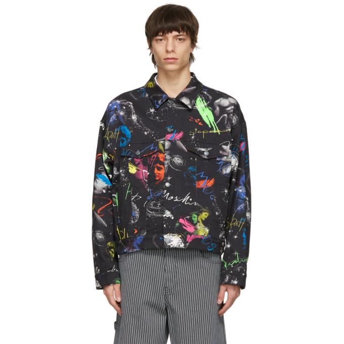 Moschino Moschino Black Bull Logo Galaxy Jacket