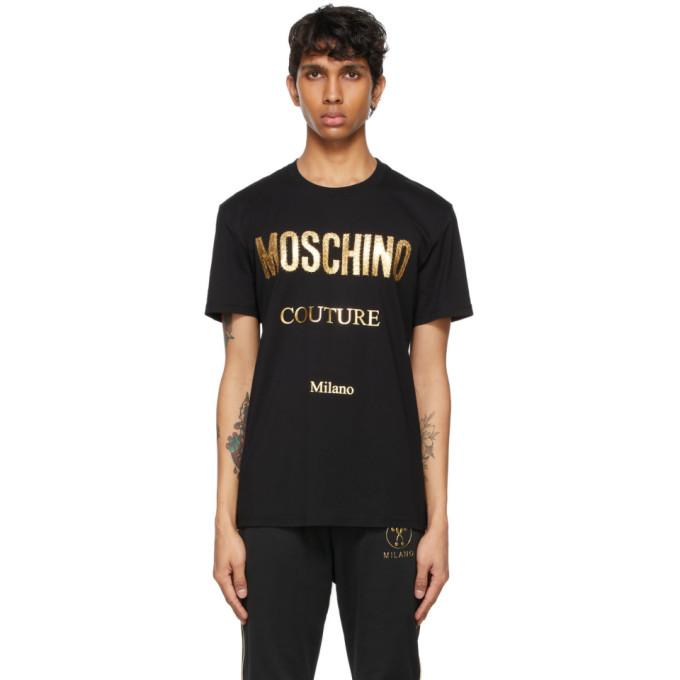 Moschino Cottons MOSCHINO BLACK COUTURE T-SHIRT