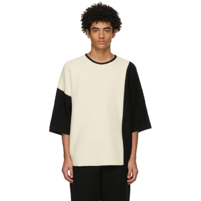 Homme Plisse Issey Miyake Black Combi Knit T-Shirt