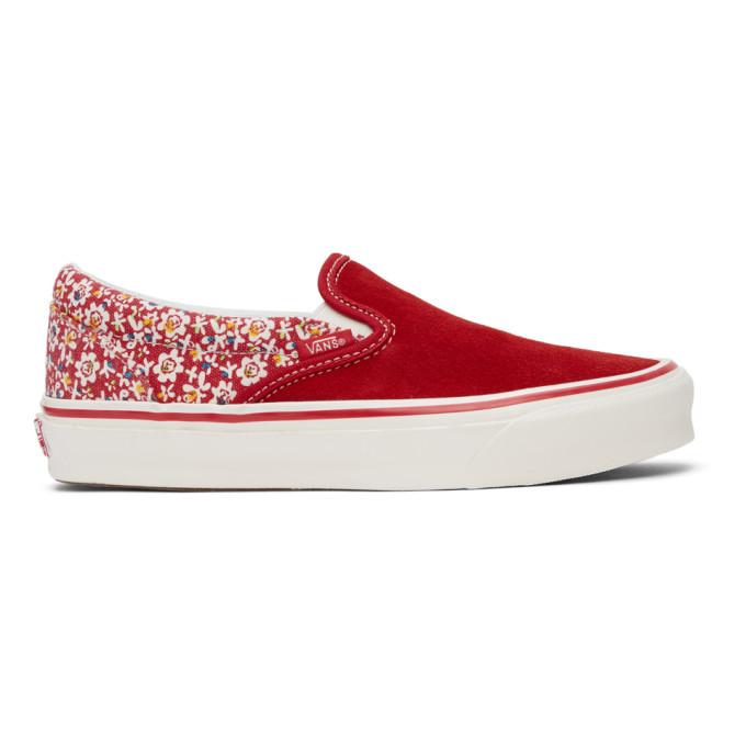 Vans VANS RED AND WHITE MICRO DAISY OG CLASSIC SLIP-ON LX SNEAKERS