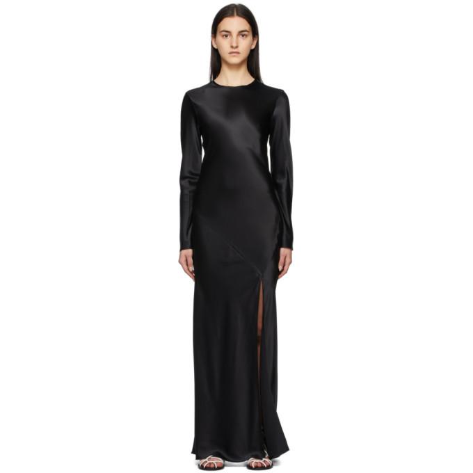 Sir. Clothing SIR. BLACK SILK SOLEIL LONG DRESS