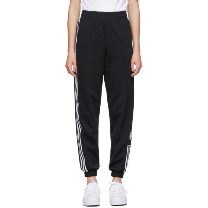 Adidas Originals ADIDAS ORIGINALS BLACK ADICOLOR 3D TREFOIL TRACK PANTS