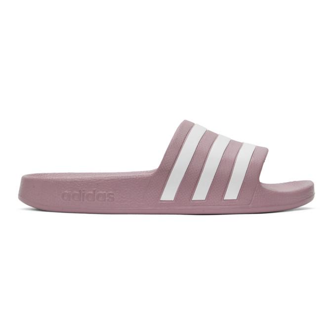 Adidas Originals ADIDAS ORIGINALS PURPLE ADILETTE AQUA SLIDES