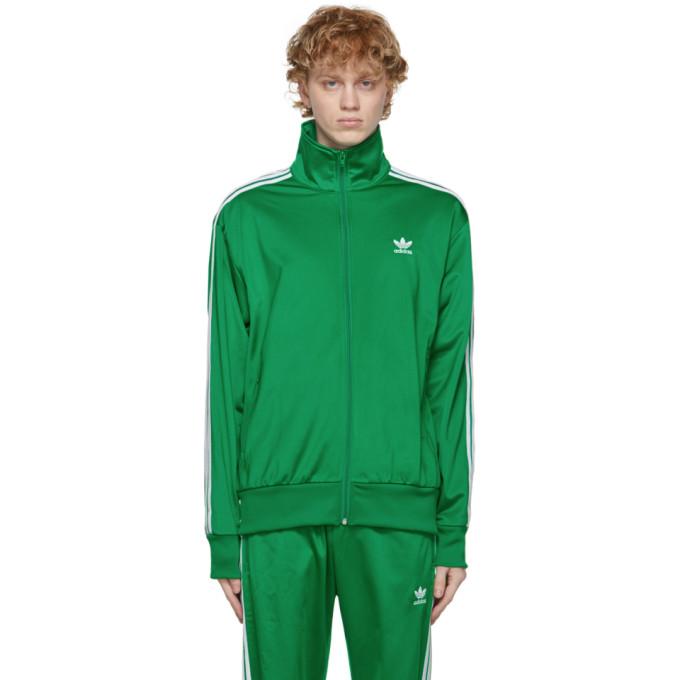 Adidas Originals Jackets ADIDAS ORIGINALS GREEN ADICOLOR CLASSICS FIREBIRD TRACK JACKET