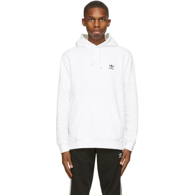 adidas Originals ホワイト Essential フーディ