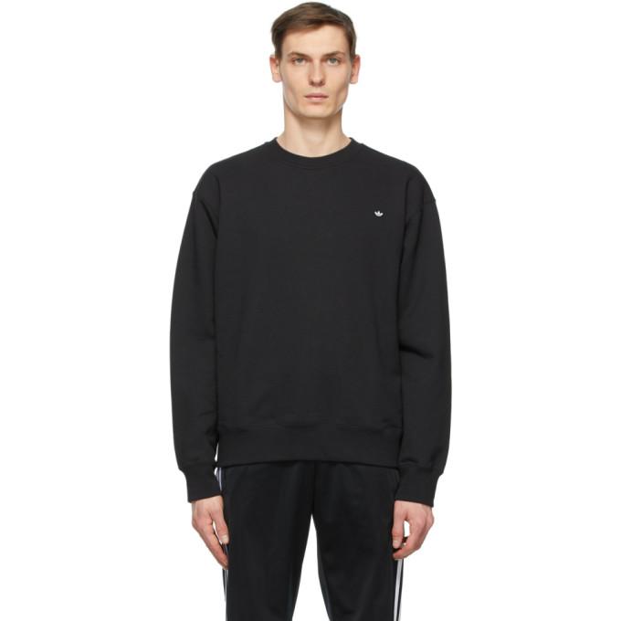 Adidas Originals ADIDAS ORIGINALS BLACK ADICOLOR PREMIUM SWEATSHIRT