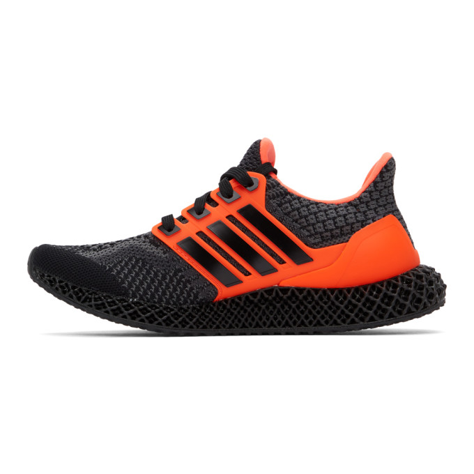 ADIDAS ORIGINALS Sneakers ADIDAS ORIGINALS BLACK AND ORANGE ULTRA 4D 5.0 SNEAKERS