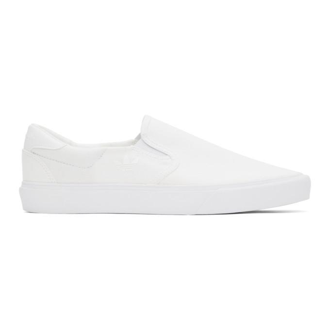 Adidas Originals ADIDAS ORIGINALS WHITE COURT RALLYE SLIP SNEAKERS