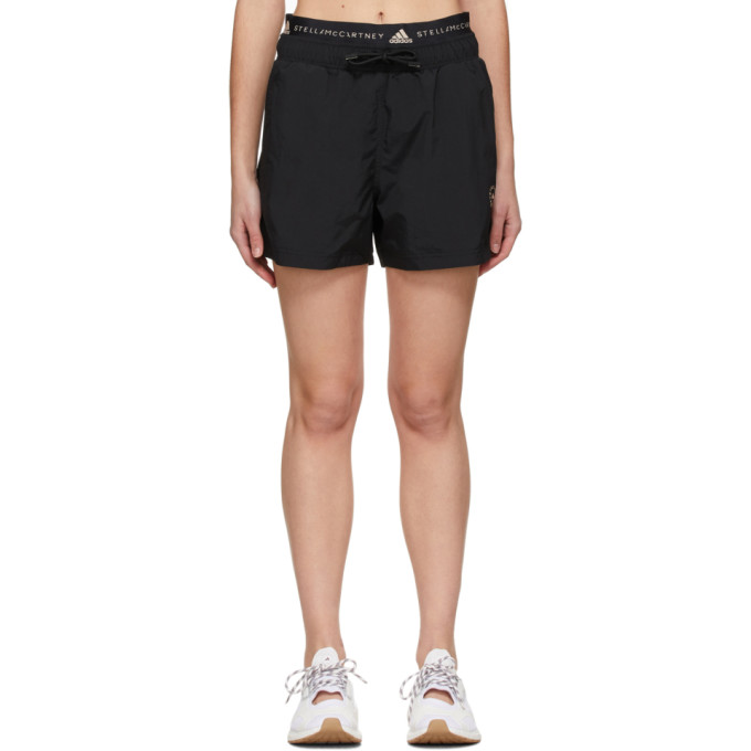 Adidas By Stella Mccartney Shorts ADIDAS BY STELLA MCCARTNEY BLACK SPORTSWEAR SHORTS