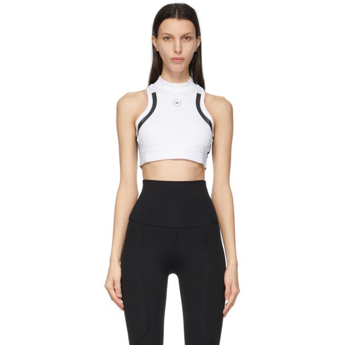 Adidas By Stella Mccartney Tops ADIDAS BY STELLA MCCARTNEY WHITE AND BLACK TRUEPACE CROP TOP