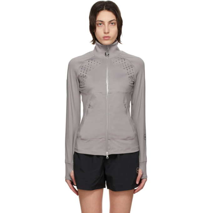 Adidas By Stella Mccartney ADIDAS BY STELLA MCCARTNEY GREY TRUEPURPOSE MIDLAYER JACKET