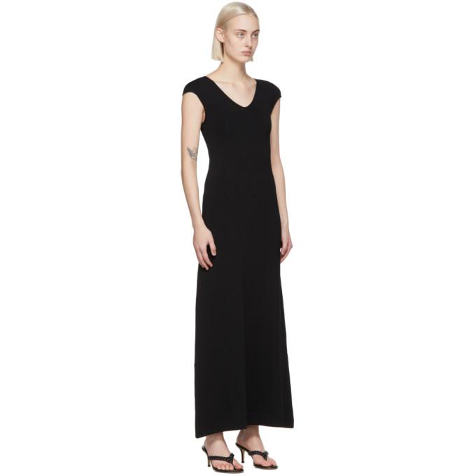 TOTÊME Dresses TOTEME BLACK CAP SLEEVE DRESS