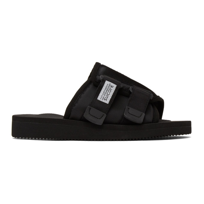 Suicoke Black Moto-cab Sandals