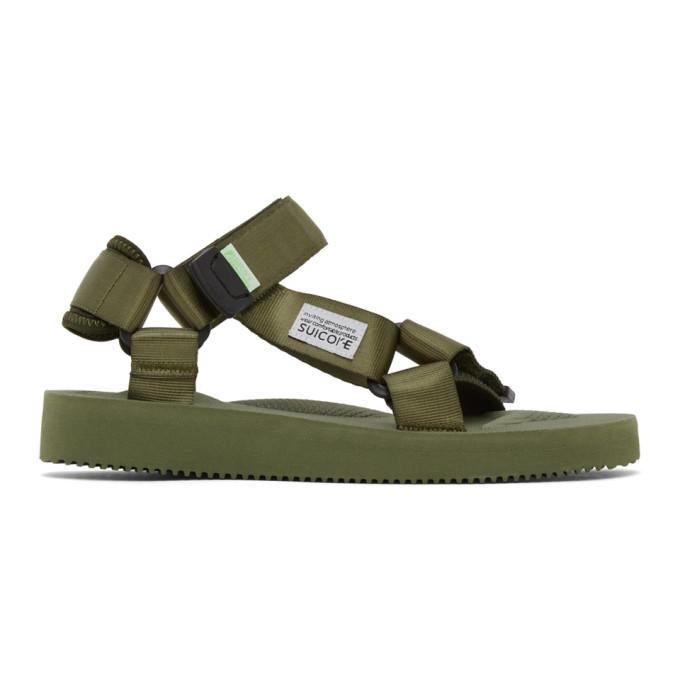 Suicoke Olive Green Depa-cab Sandals