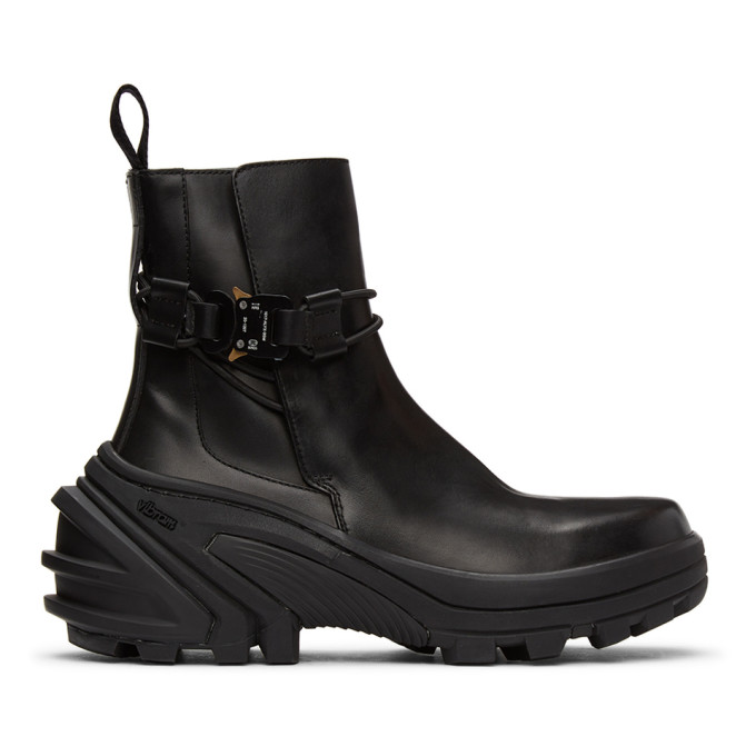 1017 ALYX 9SM Bottes chelsea noires Buckle Fixed SKX Sole