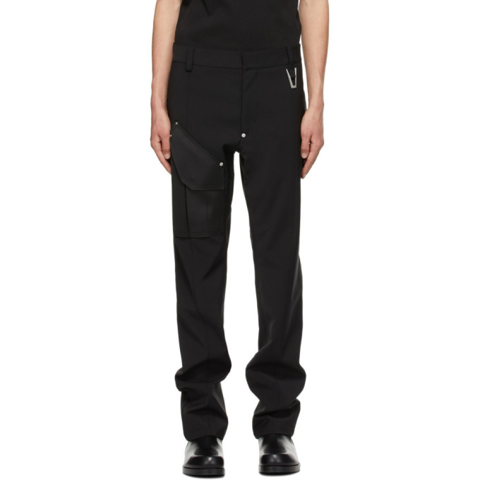 Alyx 1017 ALYX 9SM BLACK WOOL TAILORED CARGO PANTS