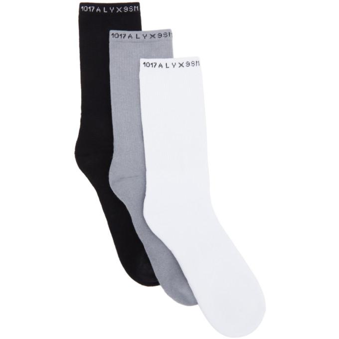 Alyx Cottons 1017 ALYX 9SM THREE-PACK MULTICOLOR LOGO SOCKS