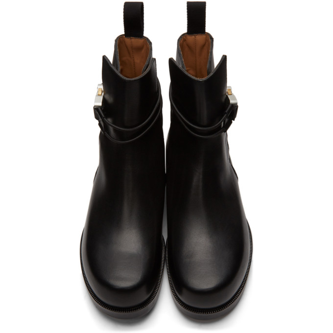 ALYX Leathers 1017 ALYX 9SM BLACK BUCKLE CHELSEA BOOTS
