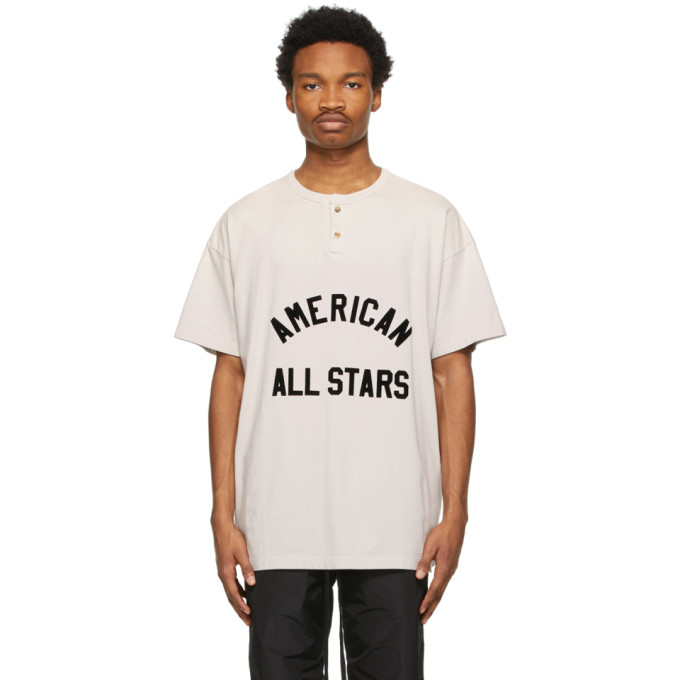 Fear Of God FEAR OF GOD OFF-WHITE AMERICAN ALL STARS SHORT SLEEVE HENLEY