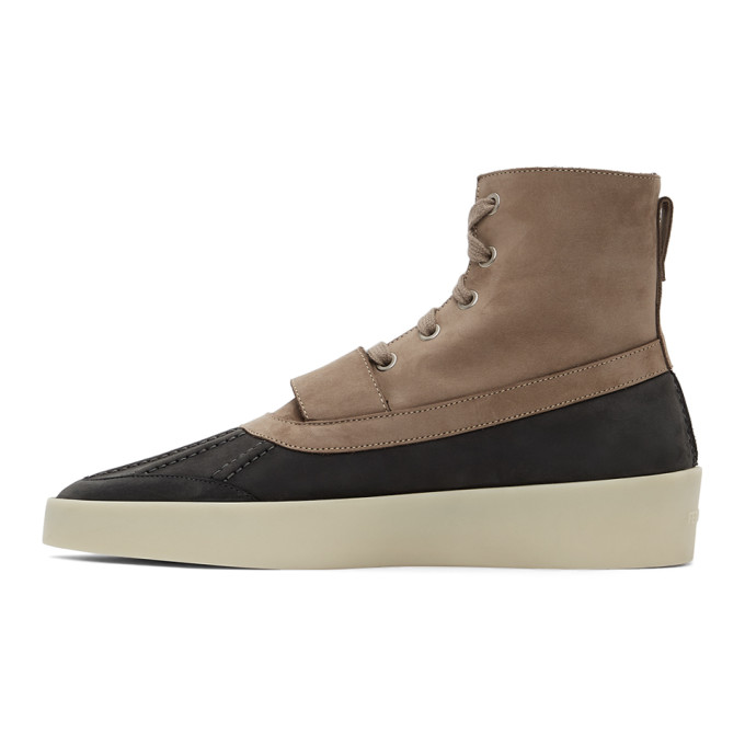 FEAR OF GOD Boots FEAR OF GOD TAUPE AND BLACK DUCK BOOTS