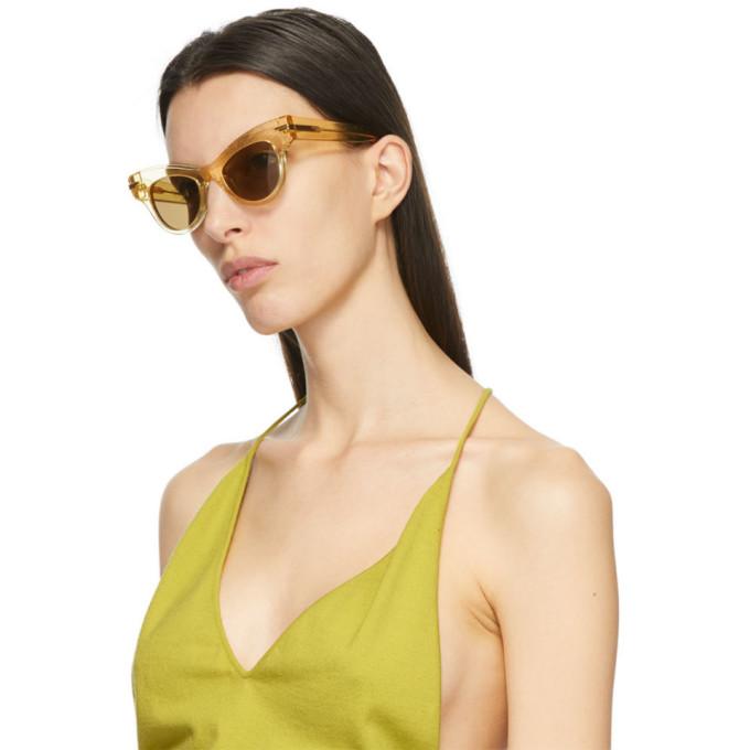BOTTEGA VENETA Sunglasses BOTTEGA VENETA YELLOW ANIMATIONS CAT EYE SUNGLASSES