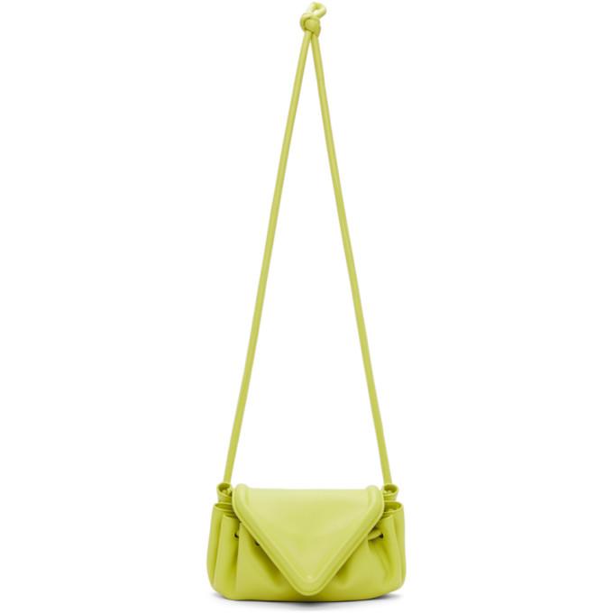 Bottega Veneta Shoulder bags BOTTEGA VENETA YELLOW V-FLAP CLUTCH