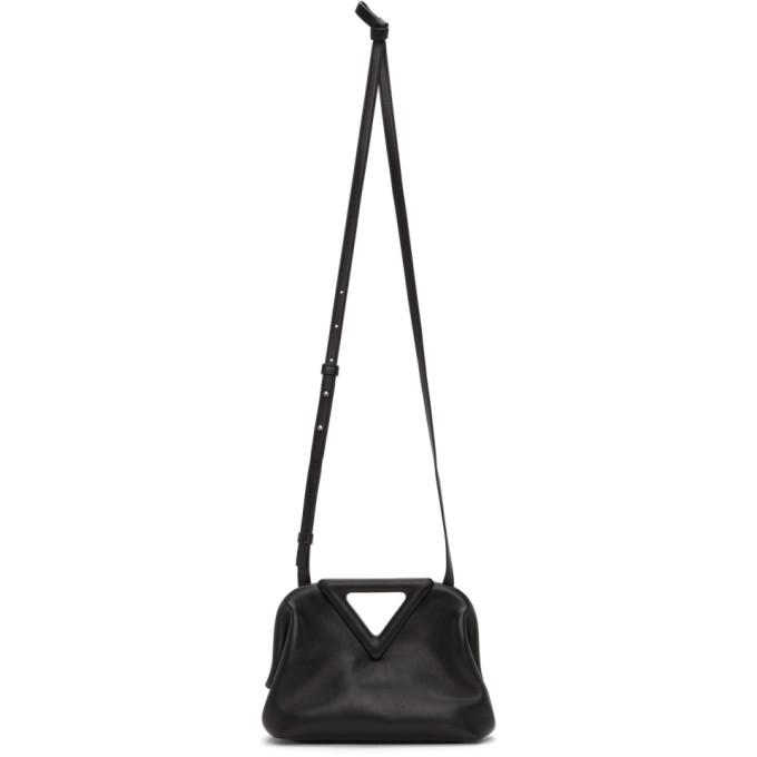 Bottega Veneta Leathers BOTTEGA VENETA BLACK SMALL V CLASP BAG