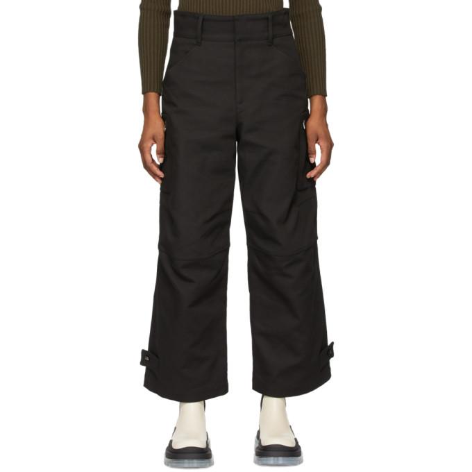 Bottega Veneta Cargo Pants In Black In 1000 Black