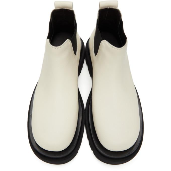 BOTTEGA VENETA Leathers BOTTEGA VENETA OFF-WHITE THE LUG LOW BOOTS