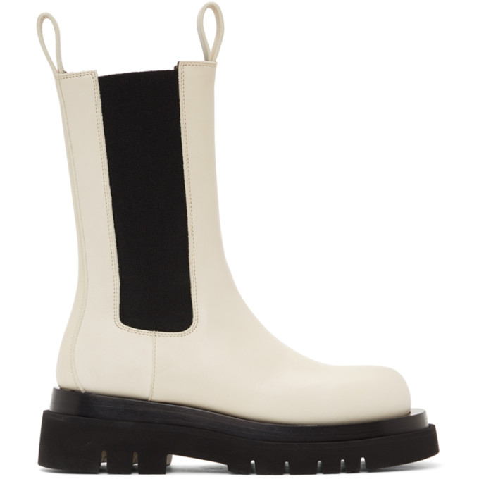 Bottega Veneta BOTTEGA VENETA OFF-WHITE THE LUG BOOTS