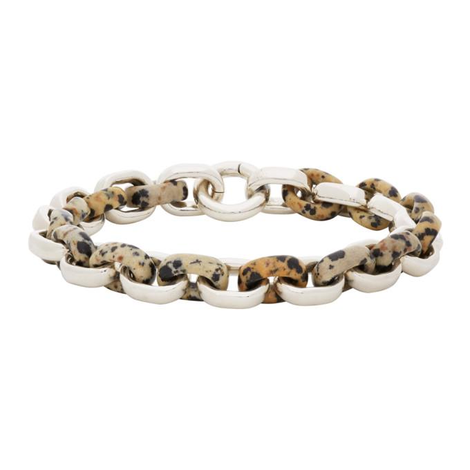Bottega Veneta 银色 Dalmatian 手链
