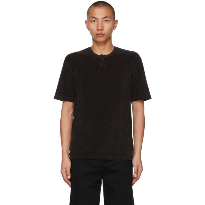 Bottega Veneta BOTTEGA VENETA BROWN TOWELLING T-SHIRT