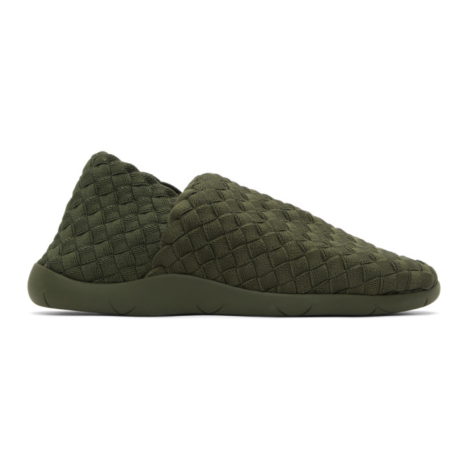 Bottega Veneta BOTTEGA VENETA GREEN INTRECCIATO SLIP-ON SNEAKERS