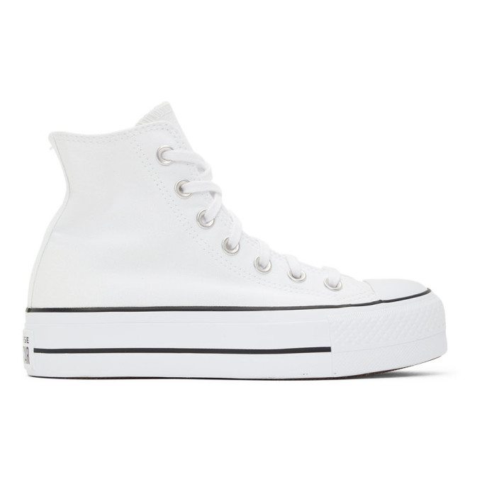Converse CONVERSE WHITE CHUCK TAYLOR ALL STAR LIFT HIGH SNEAKERS